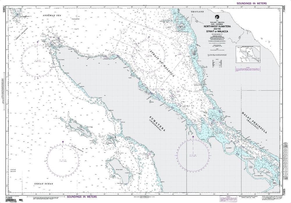 NGA Charts: Region 7 - South East Asia, Indonesia, New Guinea, Australia, NGA Chart 71005: Northwest Sumatera & Str. of Malacca