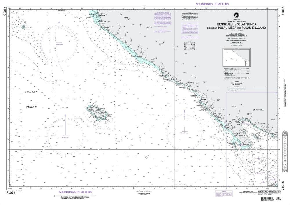 NGA Charts: Region 7 - South East Asia, Indonesia, New Guinea, Australia, NGA Chart 71015: Bengkulu to Selat Sunda Including Pulau Mega and Pulau Enggano