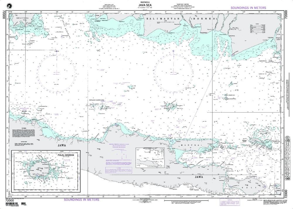 NGA Charts: Region 7 - South East Asia, Indonesia, New Guinea, Australia, NGA Chart 72000: Java Sea