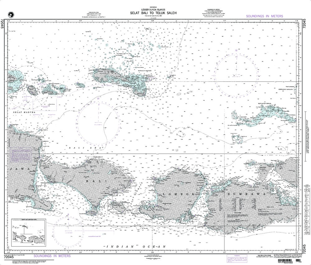 NGA Charts: Region 7 - South East Asia, Indonesia, New Guinea, Australia, NGA Chart 72045: Selat Bali to Tembuk Saleh