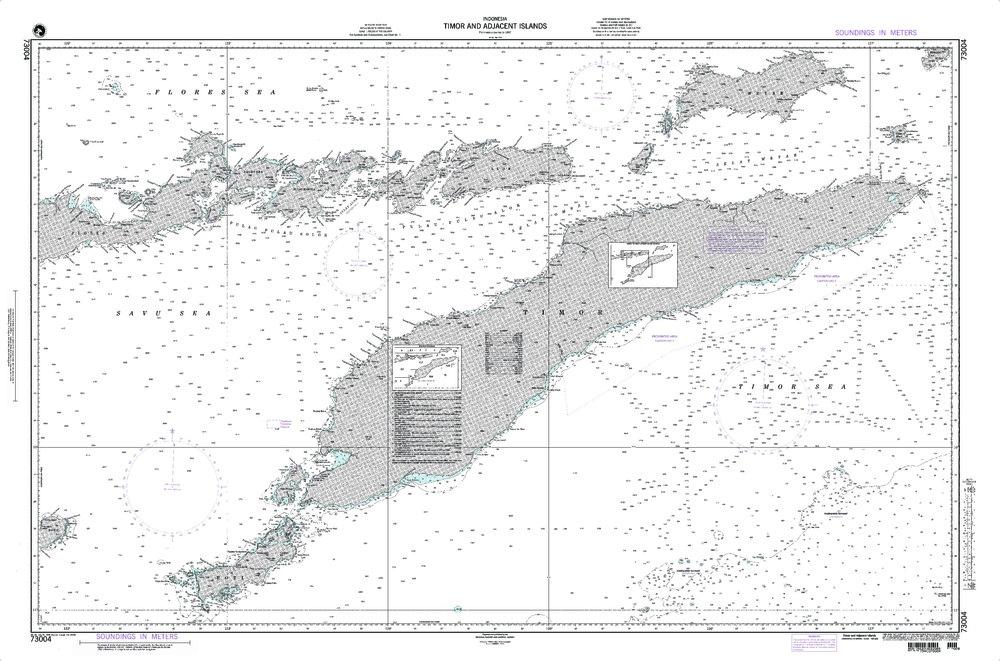 NGA Charts: Region 7 - South East Asia, Indonesia, New Guinea, Australia, NGA Chart 73004: Timor and Adjacent Islands Indonesia