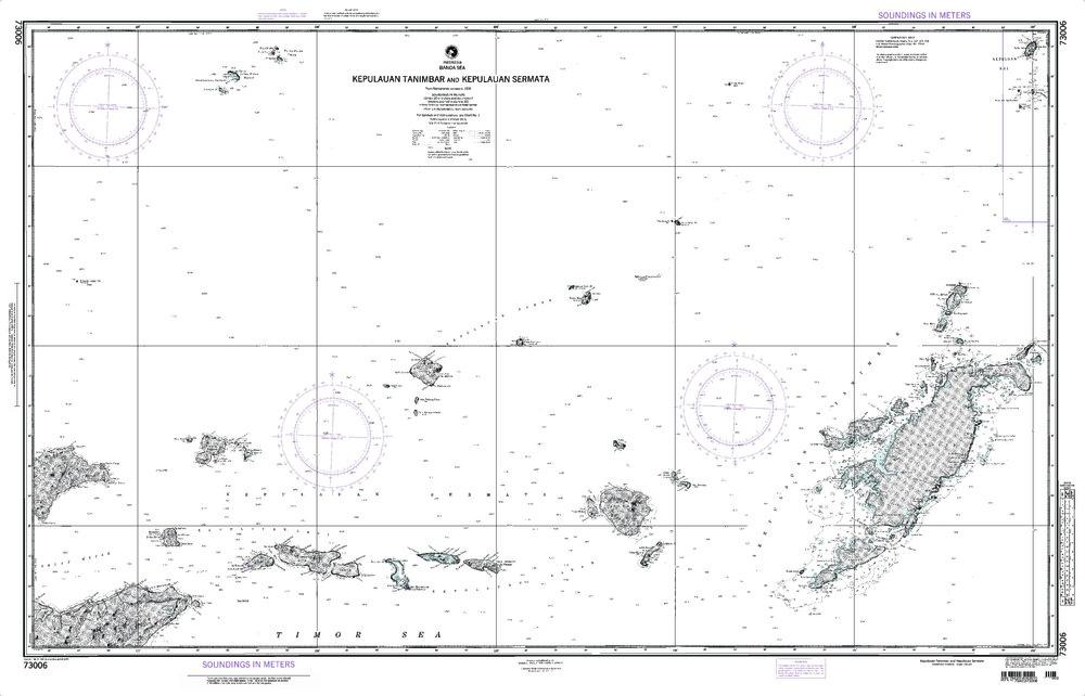 NGA Charts: Region 7 - South East Asia, Indonesia, New Guinea, Australia, NGA Chart 73006: Tanimbar and Sermata - Banda Sea