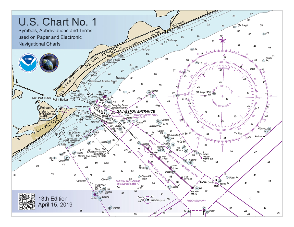 Mariner Training, U.S. Chart No. 1: Symbols, Abbreviations and Terms used on Paper and Electronic Navigational Charts, 13th edition