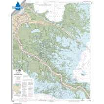 NOAA Gulf Coast charts, Waterproof NOAA Chart 11364: Mississippi River-Venice to New Orleans