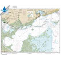 NOAA Gulf Coast charts, Waterproof NOAA Chart 11371: Lake Borgne and approaches Cat Island to Point aux Herbes