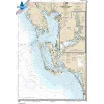 NOAA Gulf Coast charts, Waterproof NOAA Chart 11426: Estero Bay to Lemon Bay: including Charlotte Harbor;Continuation of Peace River