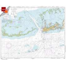 Small Format NOAA Charts, Small Format NOAA Chart 11441: Key West Harbor and Approaches