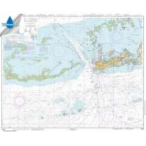 NOAA Gulf Coast charts, Waterproof NOAA Chart 11441: Key West Harbor and Approaches