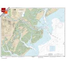 Small Format NOAA Charts, Small Format NOAA Chart 11512: Savannah River and Wassaw Sound
