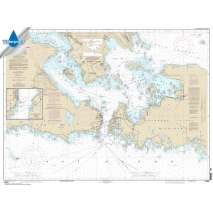 NOAA Great Lakes charts, Waterproof NOAA Chart 14882: St. Mars River - Detour Passage to Munuscong Lake;Detour Passage