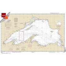 NOAA Great Lakes charts, Small Format NOAA Chart 14961: Lake Superior (Mercator Projection)