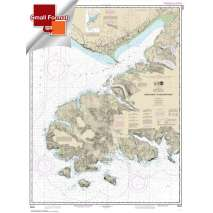 Small Format NOAA Charts, Small Format NOAA Chart 16645: Gore Point to Anchor Point