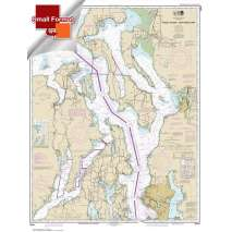 Small Format NOAA Charts, Small Format NOAA Chart 18441: Puget Sound-northern part