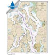 NOAA Pacific Coast charts, Waterproof NOAA Chart 18441: Puget Sound-northern part