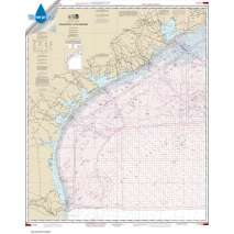 NOAA Gulf Coast charts, Waterproof NOAA Chart 1117A: Galveston to Rio Grande (Oil and Gas Leasing Areas)