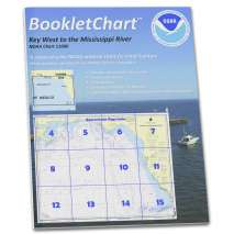 8.5 x 11 BookletCharts, NOAA Booklet Chart 11006: Key West to Mississippi River