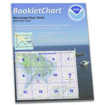8.5 x 11 BookletCharts, NOAA Booklet Chart 11361: Mississippi River Delta;Southwest Pass;South Pass;Head of Passes