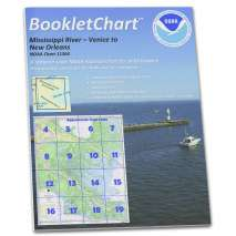 8.5 x 11 BookletCharts, NOAA BookletChart 11364: Mississippi River-Venice to New Orleans