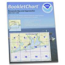 8.5 x 11 BookletCharts, NOAA BookletChart 11382: Pensacola Bay and approaches