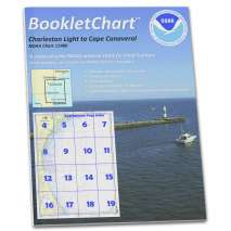 8.5 x 11 BookletCharts, NOAA BookletChart 11480: Charleston Light to Cape Canaveral