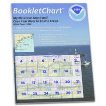 8.5 x 11 BookletCharts, NOAA BookletChart 11534: Intracoastal Waterway Myrtle Grove Sound and Cape Fear River to Casino.