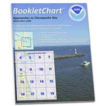 8.5 x 11 BookletCharts, NOAA BookletChart 12208: Approaches to Chesapeake Bay