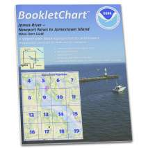 8.5 x 11 BookletCharts, NOAA BookletChart 12248: James River Newport News to Jamestown Island; Back River and College C.