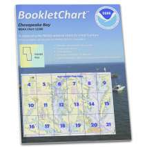 "8.5 x 11 BookletCharts, NOAA BookletChart 12280: Chesapeake Bay, Handy 8.5"" x 11"" Size. Paper Chart Book Designed for use Aboard Small Craft"