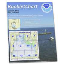 "8.5 x 11 BookletCharts, NOAA BookletChart 14850: Lake St. Clair, Handy 8.5"" x 11"" Size. Paper Chart Book Designed for use Aboard Small Craft"