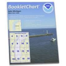"8.5 x 11 BookletCharts, NOAA BookletChart 14901: Lake Michigan (Mercator Projection), Handy 8.5"" x 11"" Size. Paper Chart Book Designed for use Aboard Small Craft"
