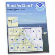 8.5 x 11 BookletCharts, NOAA BookletChart 14975: Duluth-Superior Harbor;Upper St. Louis River