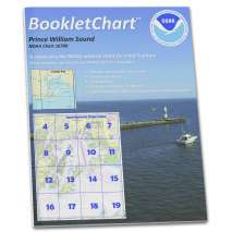 "8.5 x 11 BookletCharts, NOAA BookletChart 16700: Prince William Sound, Handy 8.5"" x 11"" Size. Paper Chart Book Designed for use Aboard Small Craft"
