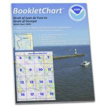 "8.5 x 11 BookletCharts, NOAA BookletChart 18421: Strait of Juan de Fuca to Strait of Georgia;Drayton Harbor, Handy 8.5"" x 11"" Size. Paper Chart Book Designed for use Aboard Small Craft"