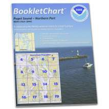 """8.5 x 11 BookletCharts, NOAA BookletChart 18441: Puget Sound-Northern Part, Handy 8.5"""" x 11"""" Size. Paper Chart Book Designed for use Aboard Small Craft"""