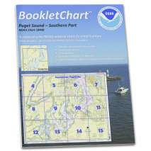 "8.5 x 11 BookletCharts, NOAA BookletChart 18448: Puget Sound-Southern Part, Handy 8.5"" x 11"" Size. Paper Chart Book Designed for use Aboard Small Craft"