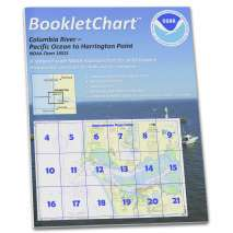 """8.5 x 11 BookletCharts, NOAA BookletChart 18521: Columbia River Pacific Ocean to Harrington Point;Ilwaco Harbor, Handy 8.5"""" x 11"""" Size. Paper Chart Book Designed for use Aboard Small Craft"""