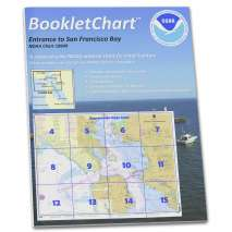"8.5 x 11 BookletCharts, NOAA BookletChart 18649: Entrance to San Francisco Bay, Handy 8.5"" x 11"" Size. Paper Chart Book Designed for use Aboard Small Craft"