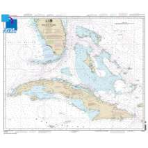 Traditional NOAA Charts, Large Format NOAA Chart 11013: Straits of Florida and Approaches