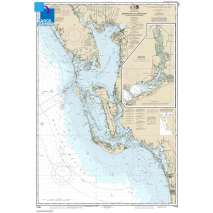 NOAA Gulf Coast charts, Large Format NOAA Chart 11426: Estero Bay to Lemon Bay: including Charlotte Harbor;Continuation of Peace River