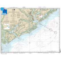 NOAA Atlantic Coast charts, Large Format NOAA Chart 11521: Charleston Harbor and Approaches