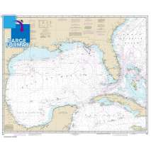 Traditional NOAA Charts, Large Format NOAA Chart 411: Gulf of Mexico