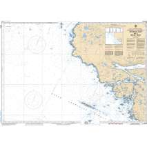 Pacific Region, CHS Chart 3550: Approaches to/Approches à Seymour Inlet and/et Belize Inlet