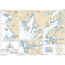 Pacific Region, CHS Chart 3910: Plans - Milbanke Sound and/et Beauchemin Channel