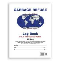 Professional , IMO Garbage Refuse Logbook for US and International Waters (90 Days)