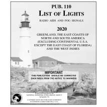 NGA List of Lights, Pub 110 List if Lights: Greenland, East Coasts of N. and S. America and West Indies