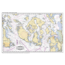 Evergreen Publishing, Placemat of San Juan Islands and Victoria, BC