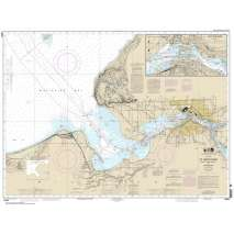 NOAA Great Lakes charts, NOAA Chart 14884: St. Marys River - Head of Lake Nicolet to Whitefish Bay;Sault Ste. Marie