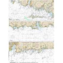 NOAA Atlantic Coast charts, NOAA Chart 12372: Long Island Sound-Watch Hill to New Haven Harbor (6 PAGE FOLIO)